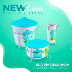 Kit Pia Decorado 3 Peças